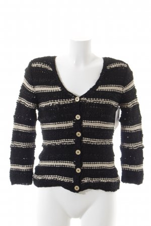 Moschino Cheap and Chic Knitted Wrap Cardigan black-oatmeal cotton