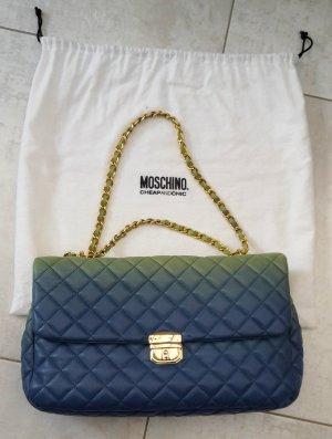 Moschino Cheap and Chic Sac bandoulière vert-bleu cuir