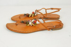 MOSCHINO Cheap & CHIC Sandalen Gr. 39 orange Leder