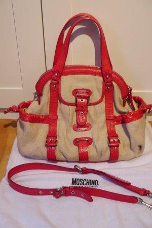 Moschino cheap & chic Tasche Leinencanvas + Leder