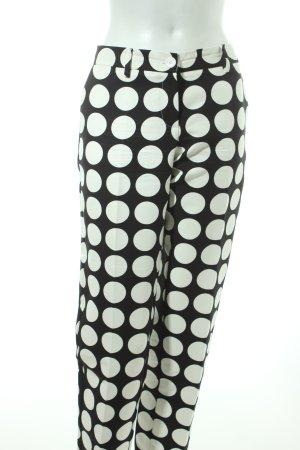 Moschino Chinohose weiß-schwarz Punktemuster Street-Fashion-Look
