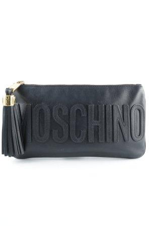 "Moschino Clutch ""Leather Clutch Black"""