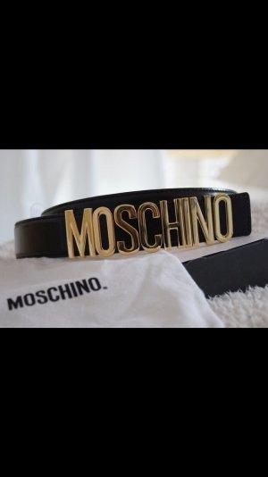 Moschino Cinturón de cuero negro