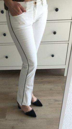 MOSCHINO Designer Jeans NP:399€ weiss Blogger Instagram Look