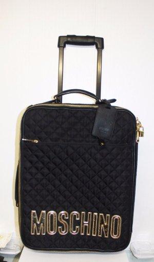 Moschino Koffer zwart-goud