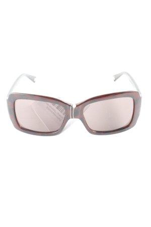 Moschino eckige Sonnenbrille dunkelbraun Tortoisemuster Retro-Look