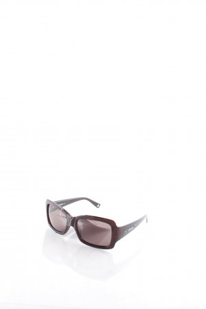 Moschino Angular Shaped Sunglasses dark brown tortoise pattern retro look