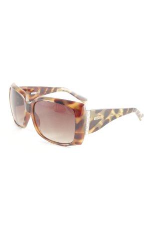 Moschino eckige Sonnenbrille Leomuster Elegant