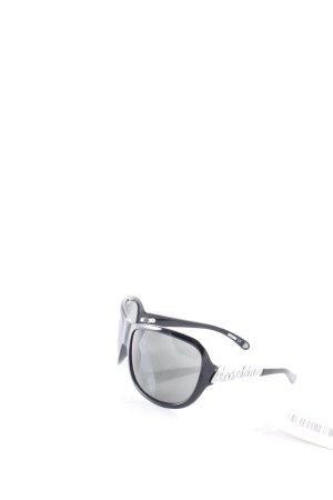 Moschino eckige Sonnenbrille schwarz Retro-Look