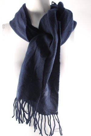 Moschino Fransenschal dunkelblau schlichter Stil
