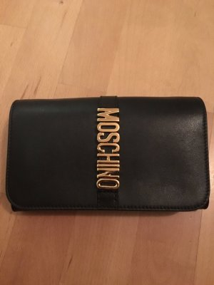 Moschino Geldbeutel Portemonnaie schwarz Leder neu mit Rechnung und OVP