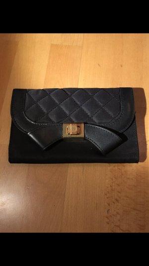 Moschino Geldbeutel Portemonnaie schwarz Nylon/Leder