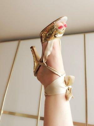 Moschino Gold Sandalen 38