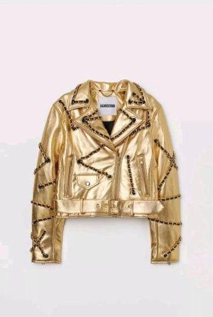 H&M Chaqueta de cuero color oro