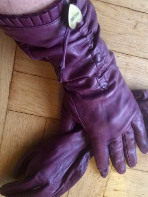 Moschino Gloves purple