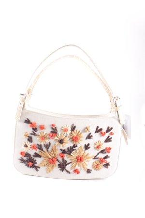 Moschino Handtasche beige Blumenmuster Retro-Look
