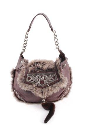 Moschino Handtasche dunkelbraun extravaganter Stil