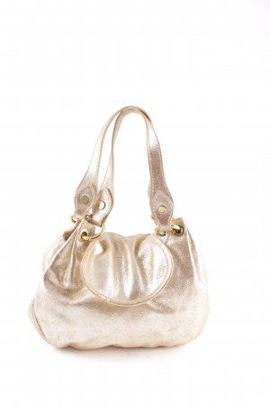 Moschino Handtasche goldfarben Metallic-Optik
