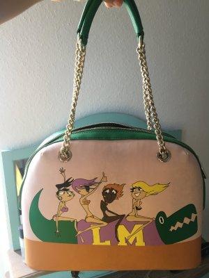 Moschino Handtasche  in Grün und rosa