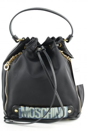 "Moschino Handtasche ""Logo Medium Nylon Bucket Bag. Black"" schwarz"