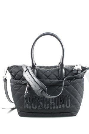 Moschino Henkeltasche schwarz Steppmuster schlichter Stil