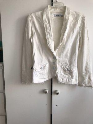 Moschino Jeans Blazer Jacke Creme Pop eye