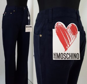 MOSCHINO Jeans Dunkelblau / Peace Sign & Hearts High Waist / Size 26 / UVP 98€