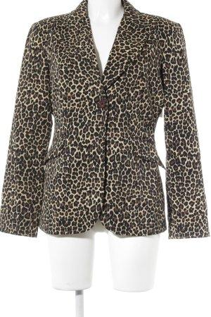 Moschino Jeans Jerseyblazer Leomuster Street-Fashion-Look