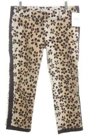 Moschino Jeans Stoffhose braun Animalmuster Animal-Look