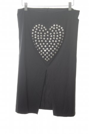 Moschino Jeans Stretchrock schwarz Motivdruck Casual-Look