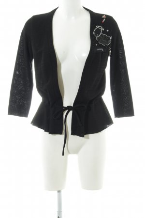 Moschino Jeans Strickjacke schwarz Elegant