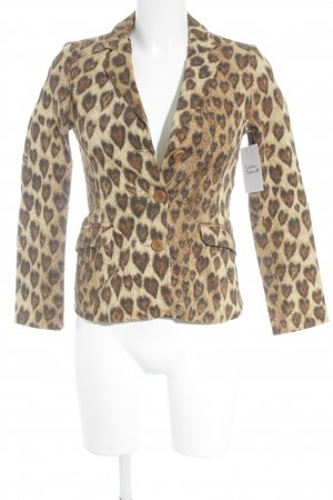 Moschino Jeans Sweatblazer Animalmuster Animal-Look