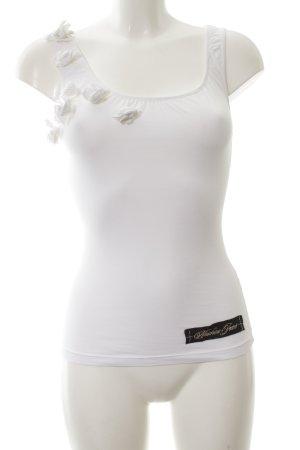 Moschino Jeans Canotta bianco stile casual