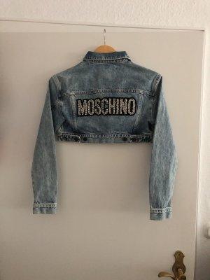 Moschino Jeansjacke kurz xs 34 babyblau