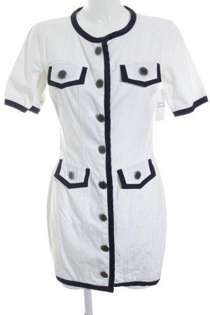 Moschino Jeanskleid weiß-dunkelblau Casual-Look