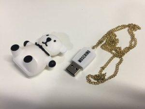 Moschino Kette mit USB-Stick Teddybär