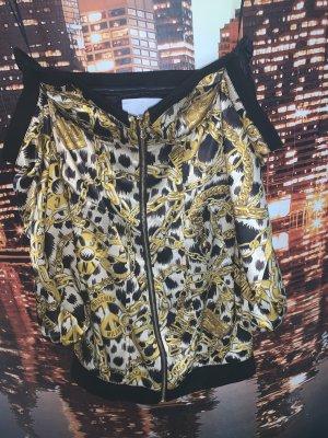 Moschino Robe à corsage doré-noir