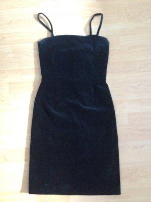 Moschino Kleid cocktailkleid samt schwarz 36