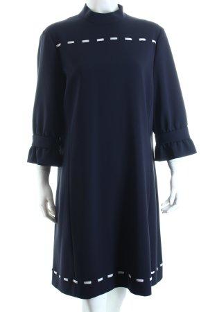Moschino Kleid dunkelblau-weiß minimalistischer Stil