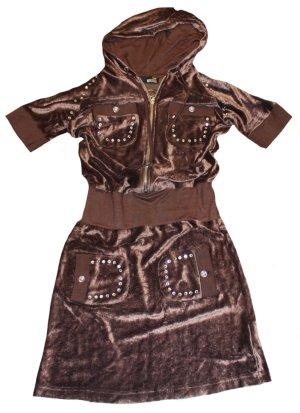 MOSCHINO Kleid MINI Nikki braun Kapuze Gr. 36
