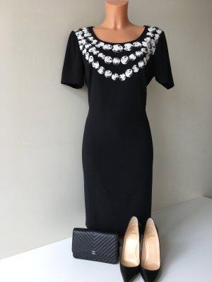 Moschino knielanges Kleid Abendkleid Cocktailkleid Gr. M schwarz