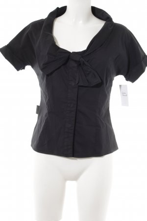 Moschino Kurzarm-Bluse schwarz Casual-Look