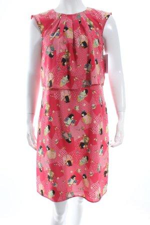 Moschino Kurzarmkleid florales Muster extravaganter Stil