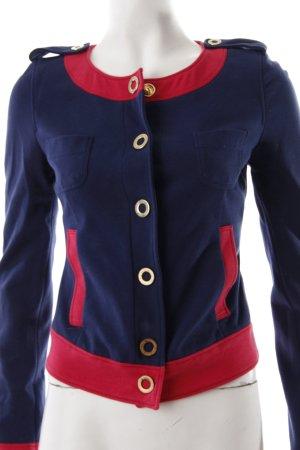 Moschino Kurzjacke dunkelblau-rot schlichter Stil