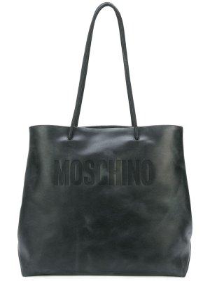 Moschino Leather Logo Tote