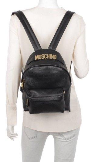 Moschino Sac à dos noir-doré