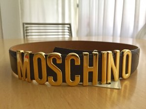 Moschino Ledergürtel Dunkelbraun/ Café neu mit Etikett