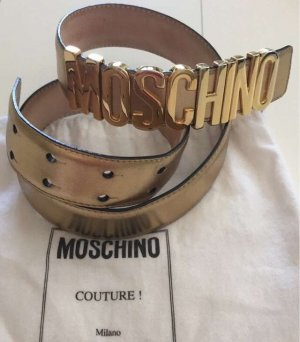 Moschino Leather Belt gold-colored