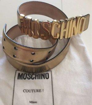 Moschino Lederen riem goud
