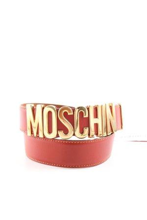 Moschino Lederen riem rood-goud extravagante stijl